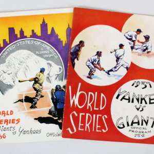 Official 1936 & 1937 World Series Baseball Programs
