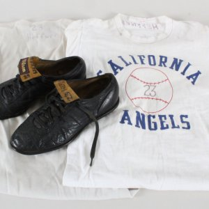 Don Heffner Game Used 1960's Baseball Cleats & Undershirts (3)