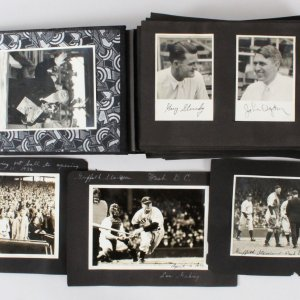 Don Heffner 1936 Personal Baseball Photo Autographed Scrapbook