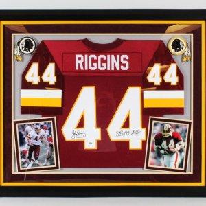 John Riggins Signed Jersey Framed Redskins - COA