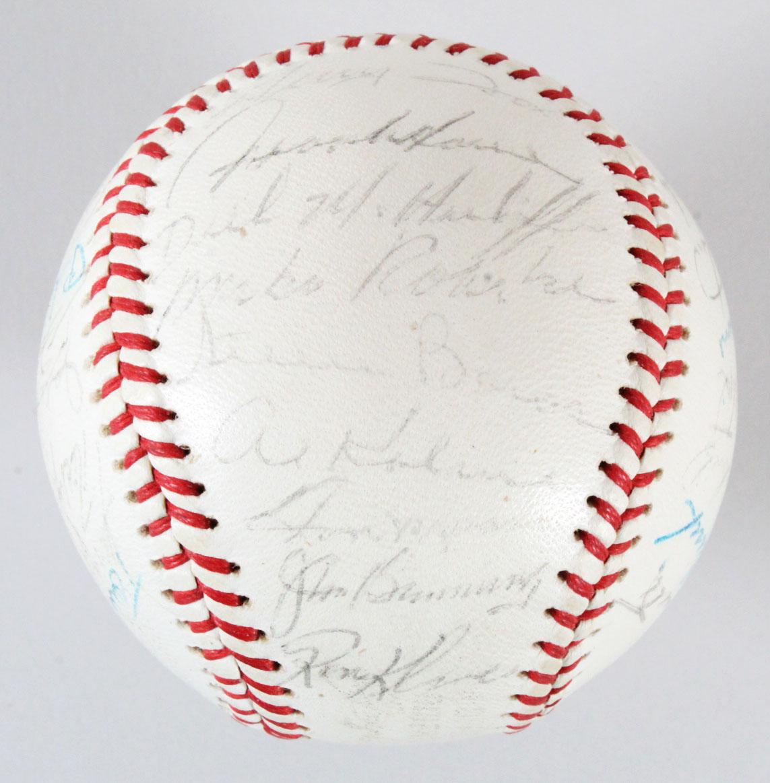 667c3ff794f 1961 Detroit Tigers Signed Baseball Rocky Colavito