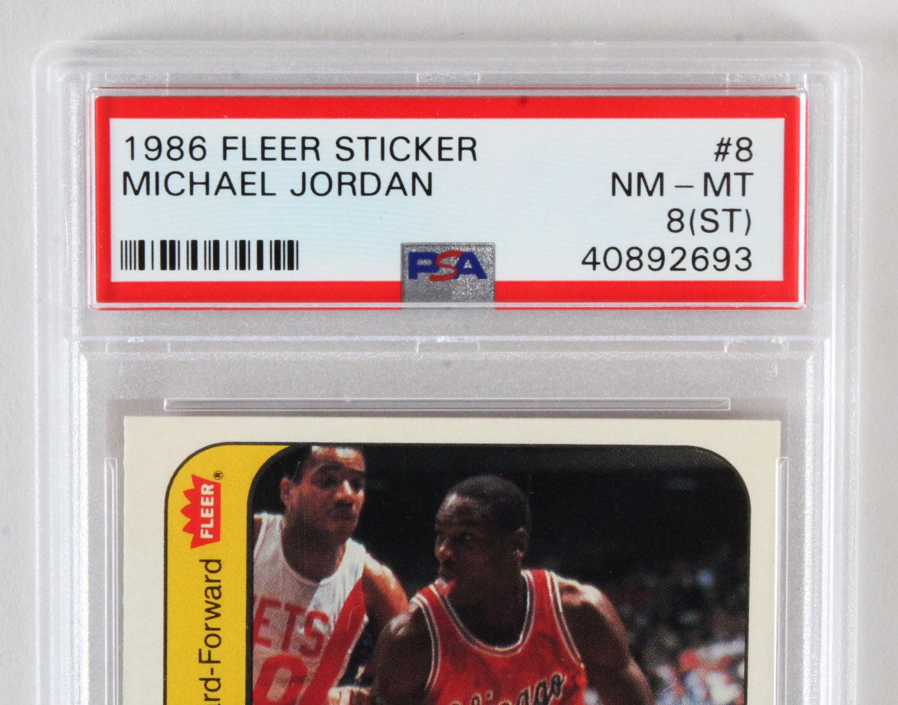 1986 87 Fleer Sticker Michael Jordan Rookie Card Rc Psa