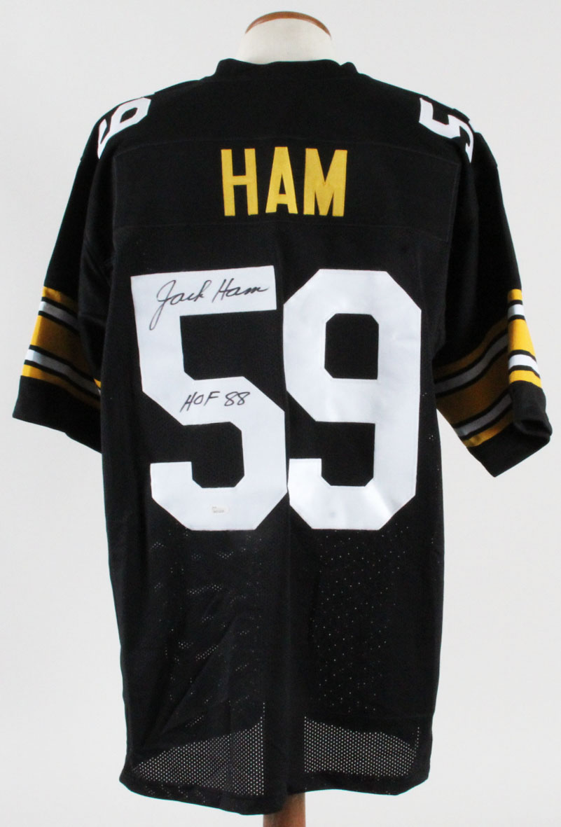 low priced 75021 42c6d Jack Ham Signed Jersey Steelers - COA JSA