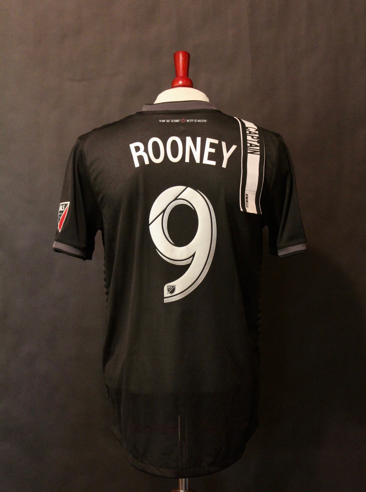 cfab6fea9 Wayne Rooney Game-Used #9 DC United Home Shirt & Captain's Armband. 2018  MLS Season.