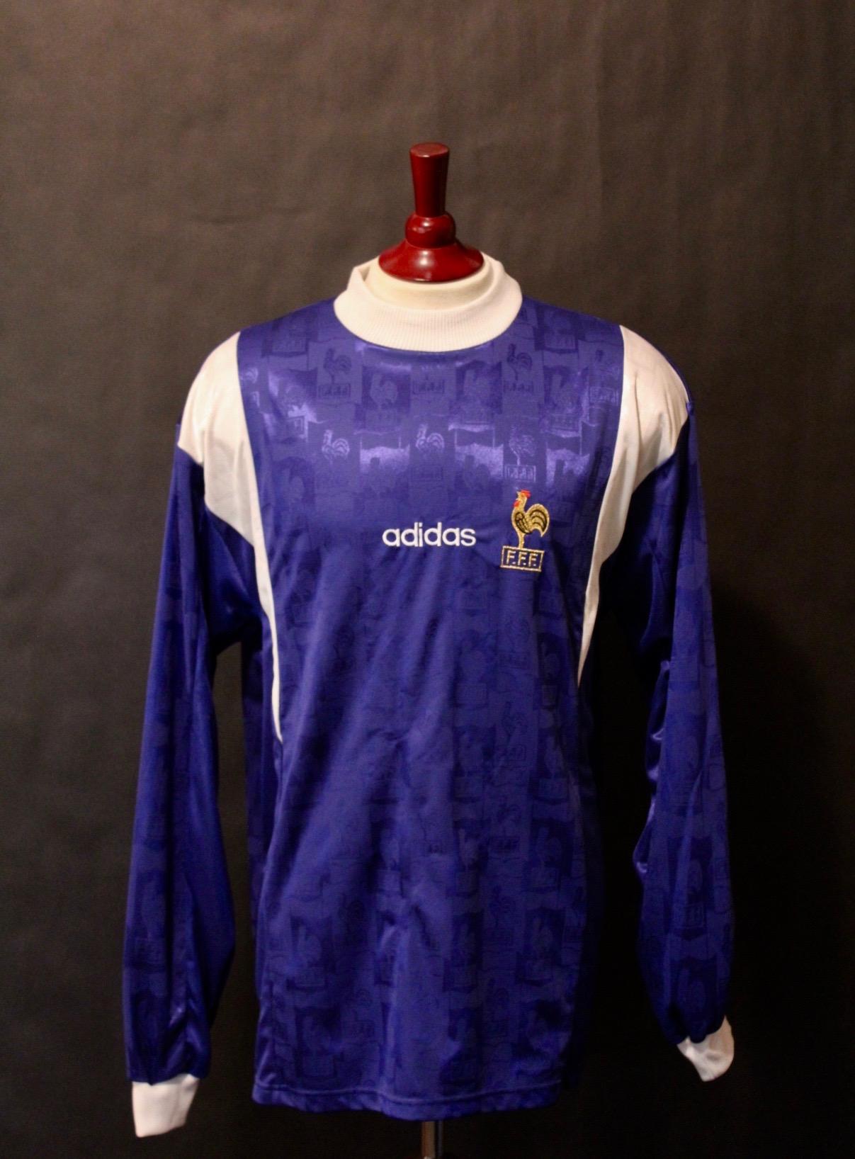 9085f1e6c Zinedine Zidane Game-Used France Training Shirt. Circa 1997 1998 ...