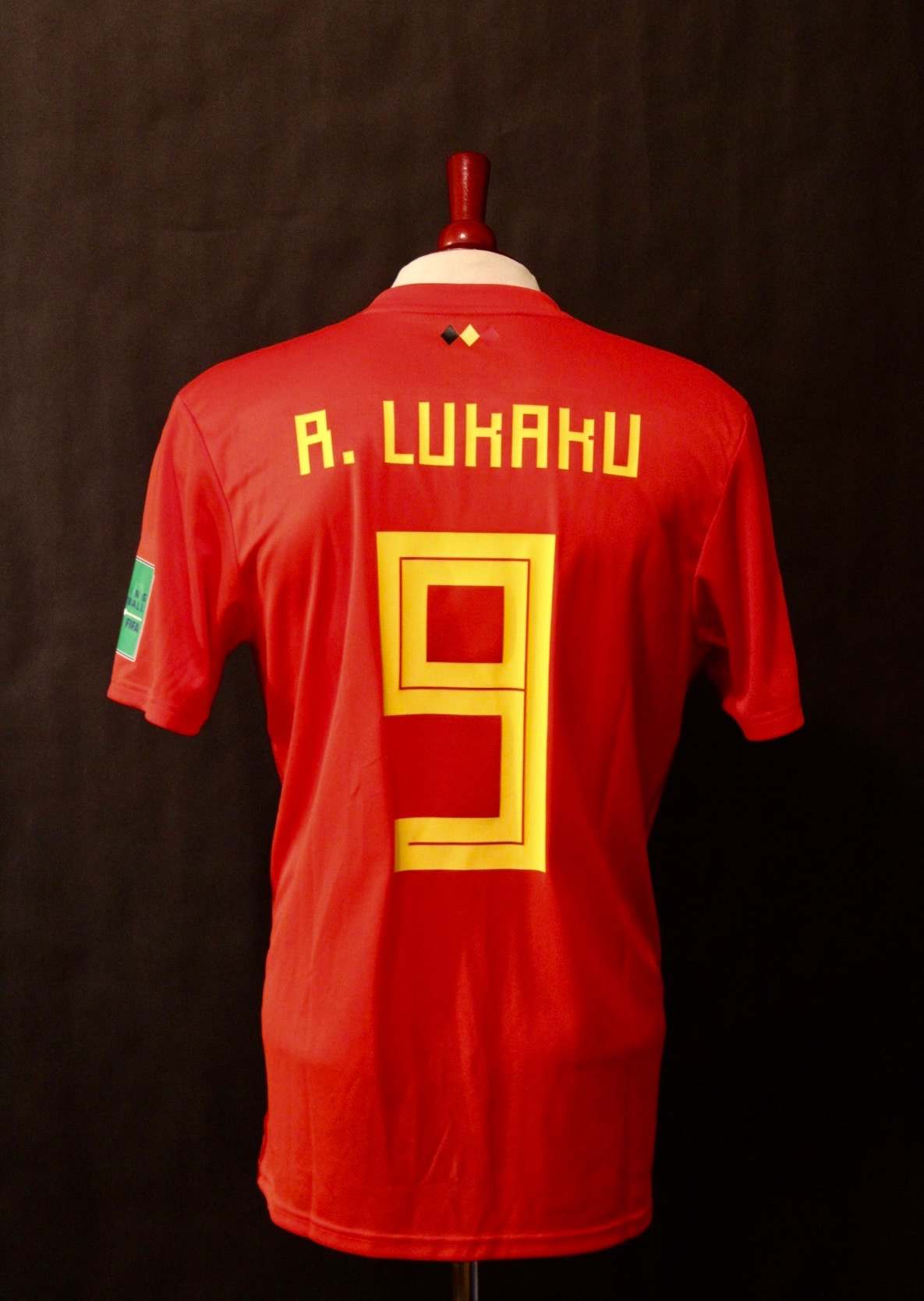 Romelu Lukaku Game-Used  9 Belgium Shirt. 2018 FIFA World Cup ... ce84e8d05