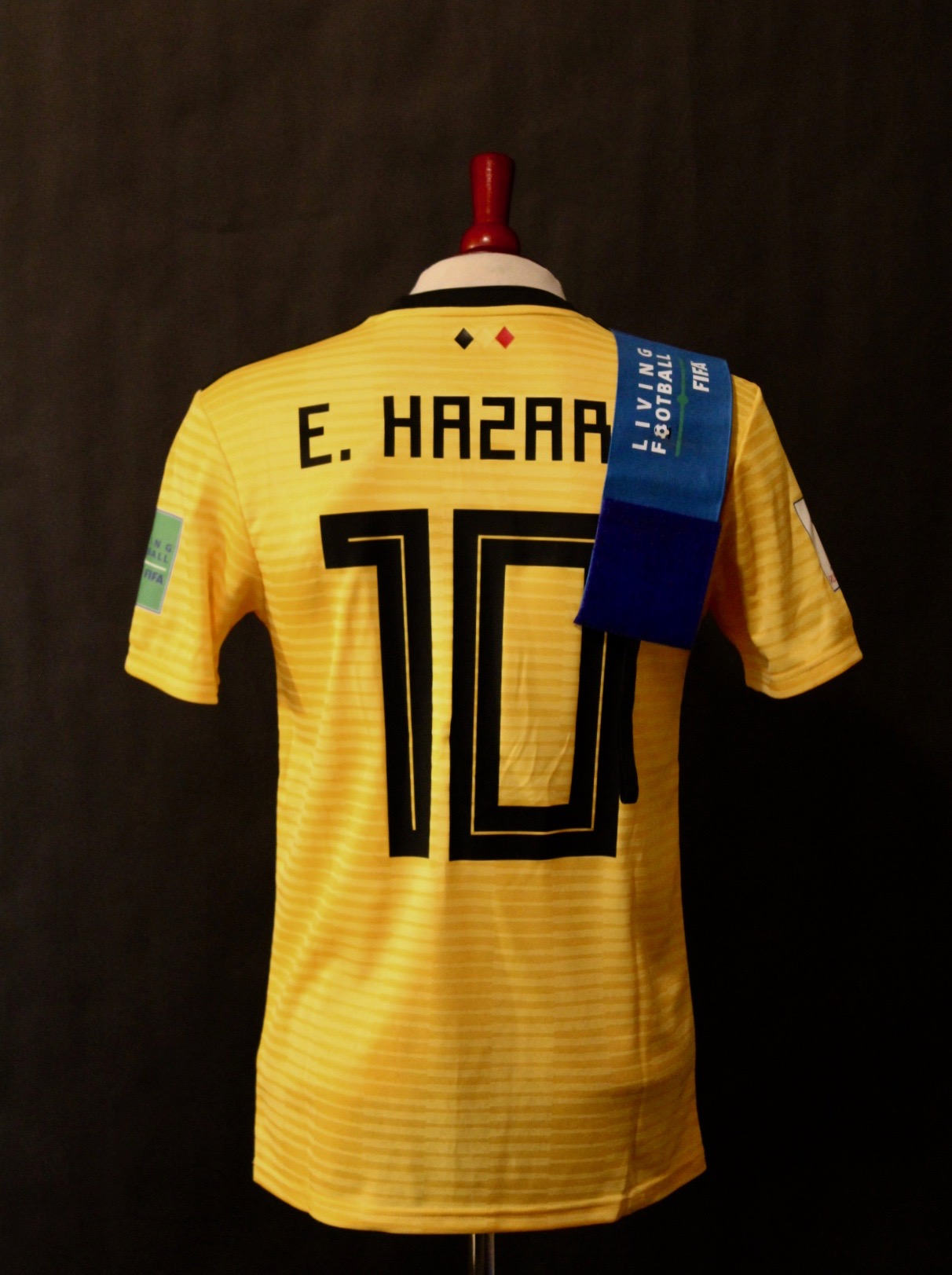 best cheap 52a22 97c02 Eden Hazard Game-Used #10 Belgium Shirt & Captain's Armband. 2018 FIFA  World Cup 3rd Place Match.