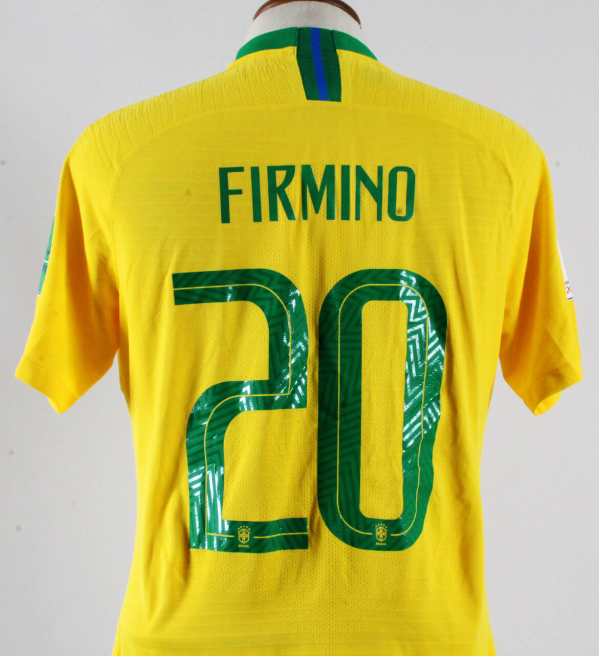 b34a8ed0108 Firmino Game-Worn Jersey Brazil World Cup 2018 – COA 100% Authentic Team   Provenance.