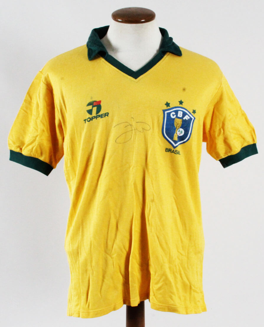 38d15be31 Zico Game-Worn Brazil Jersey Signed Brazil  10 World Cup 1986 ...