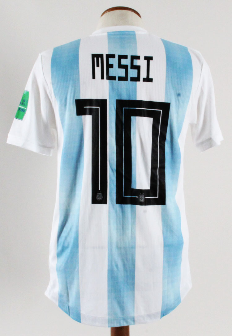 7c97ae6ed Lionel Messi Game-Worn Jersey Argentina World Cup 2018 – COA 100% Authentic  Team  Provenance LOA