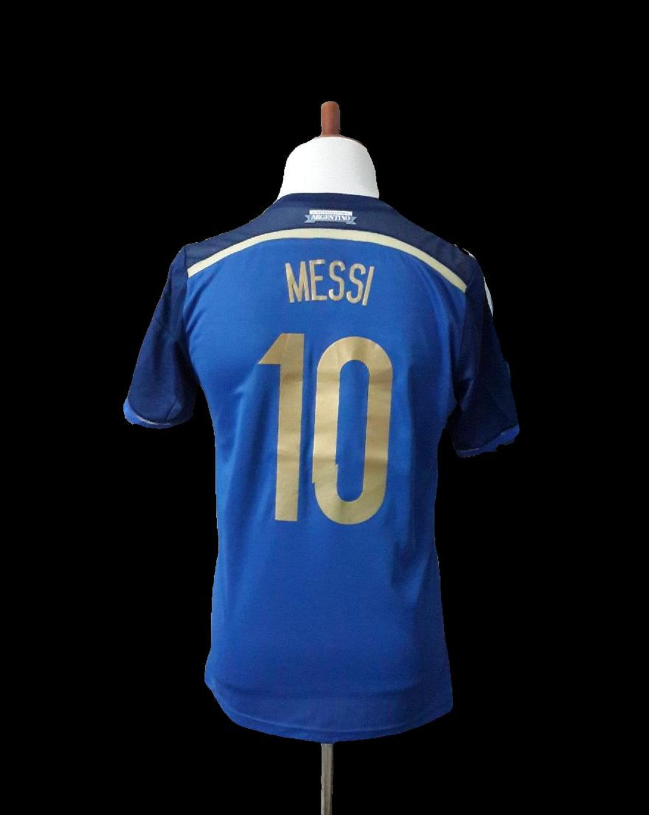 Lionel Messi Game-Used  10 Argentina National Team Away Shirt FIFA World Cup  2014 Final Match. 7e14f0bae