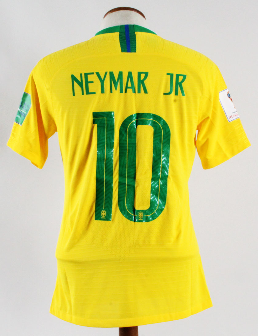 size 40 2d5ae cd38d Neymar Jr. Game-Issued Jersey Brazil National Team - COA 100% Authentic Team