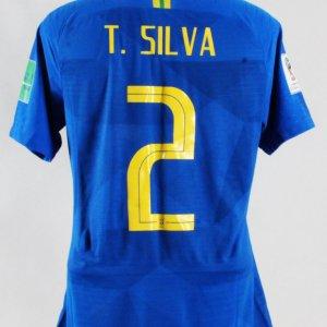 Thiago Silva Game-Worn Jersey Brazil National Team – COA 100% Authentic Team 91bbee99f