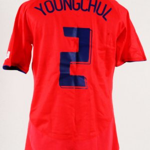 Kim Young-chul Game-Issued Jersey South Korea National Team – COA 100% Authentic  Team 5c5cf63fc