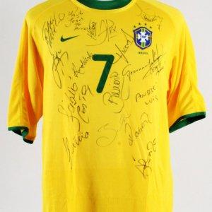 0f499abae Ronaldinho Game-Worn Jersey Brazil Team-Signed 2000 Olympic Games Sydney –  COA JSA