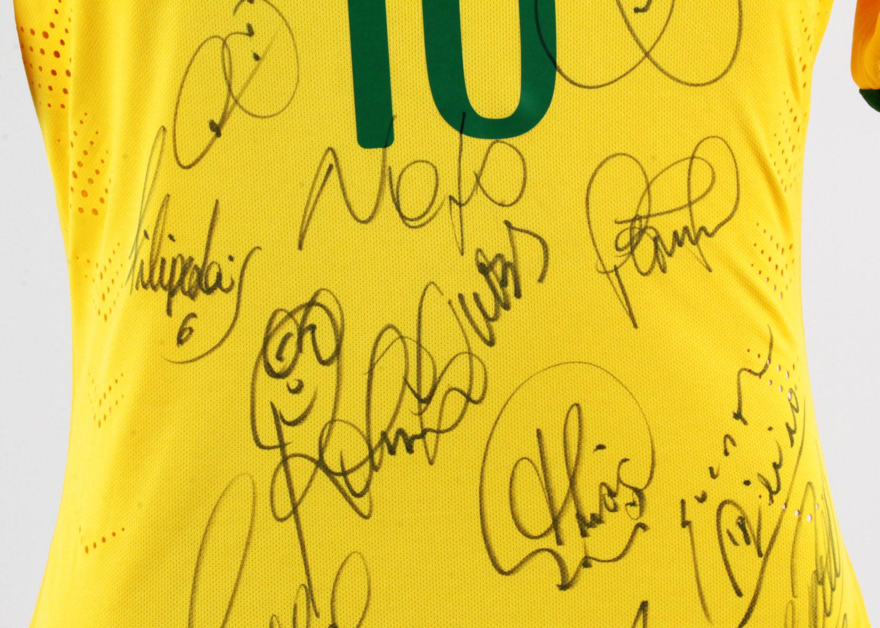 600ddf210 Neymar Game-Worn Brazil Jersey 2014 World Cup Team Signed – COA JSA