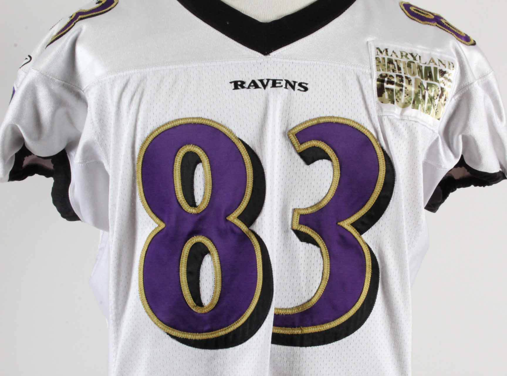 0da1ce06984 Ed Dickson Game Worn Signed Jersey Baltimore Ravens COA 100% Authentic Team