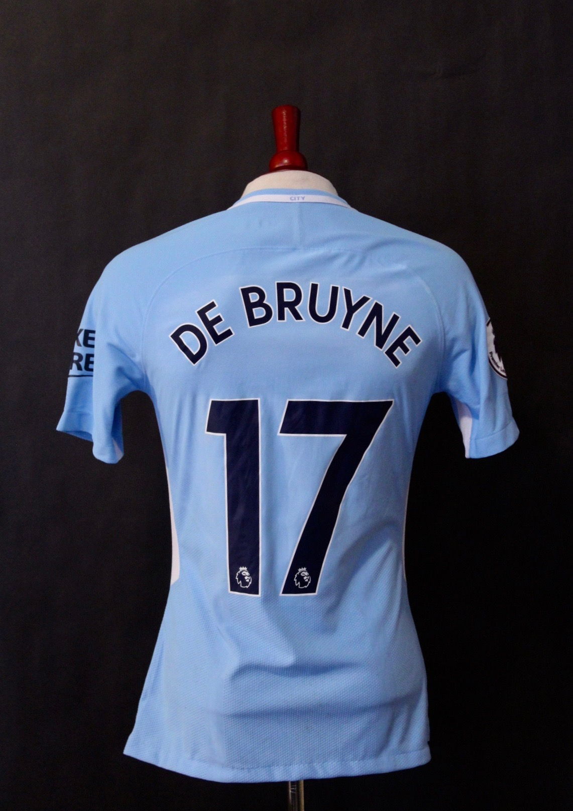 free shipping 6d102 9ab98 Kevin De Bruyne Game-Used # 17 Manchester City Home Shirt. 2017/18 Title  Winning Season.