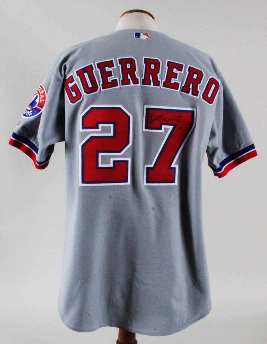 best loved 72959 bbe3c canada vladimir guerrero game worn road jersey 100 authentic ...