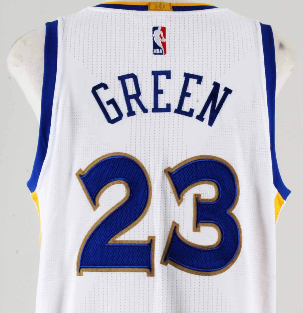 2015-16 Draymond Green Game-Issued Warriors Jersey Banner Raising Night  7be85184d