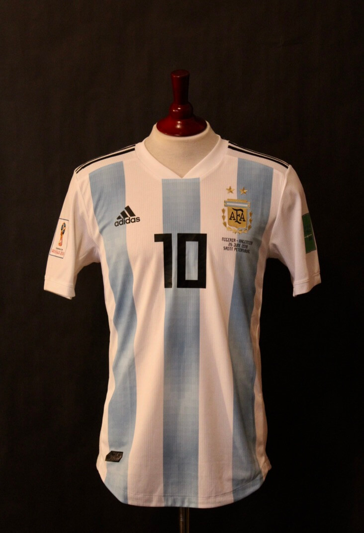 8799f4593 Lionel Messi Game-Used  10 Argentina Home Shirt. 2018 FIFA World Cup (Group  D).