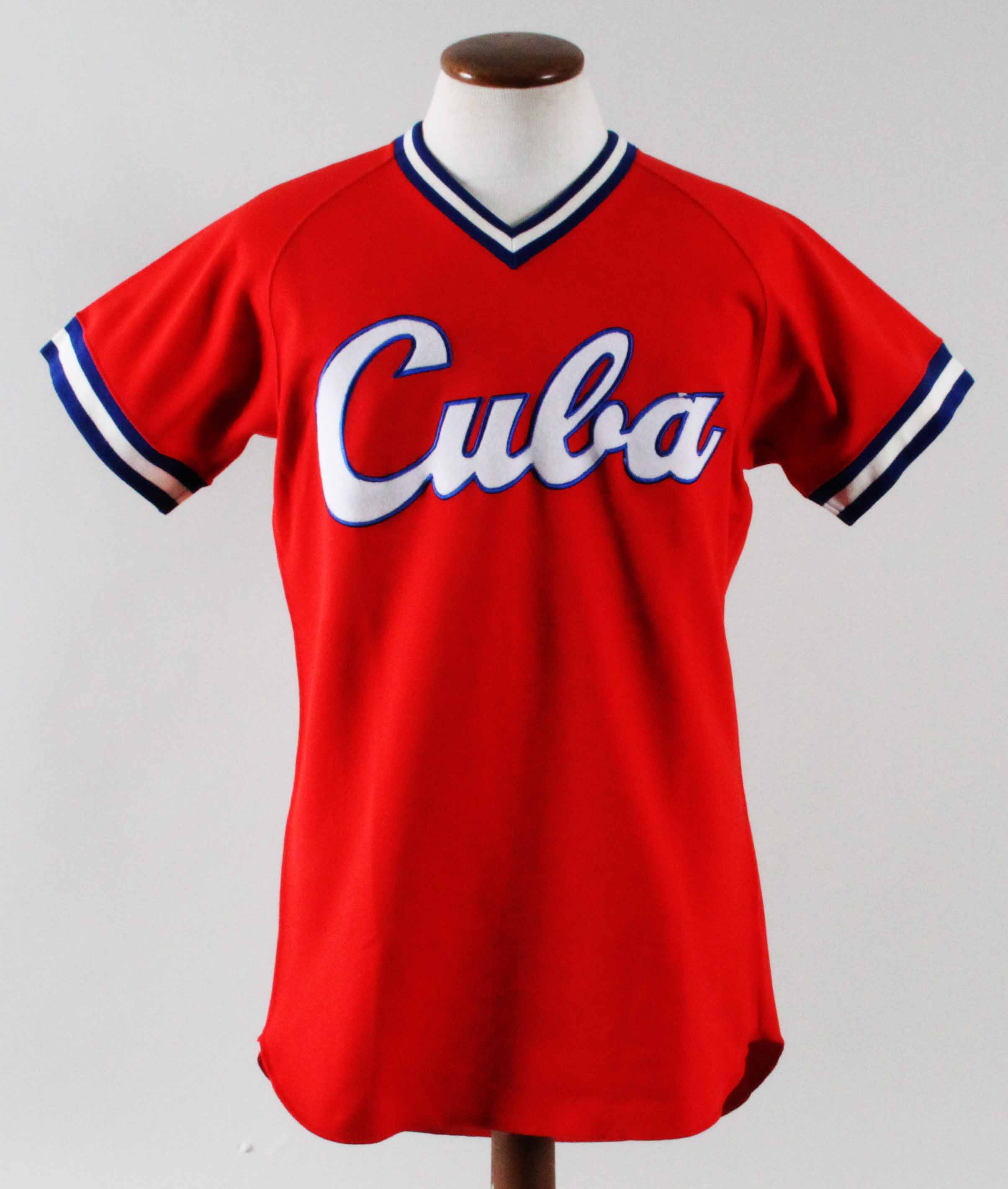 online store a730e 5bf5f 1993 Omar Linares Worn Practice Jersey Cuba National Team