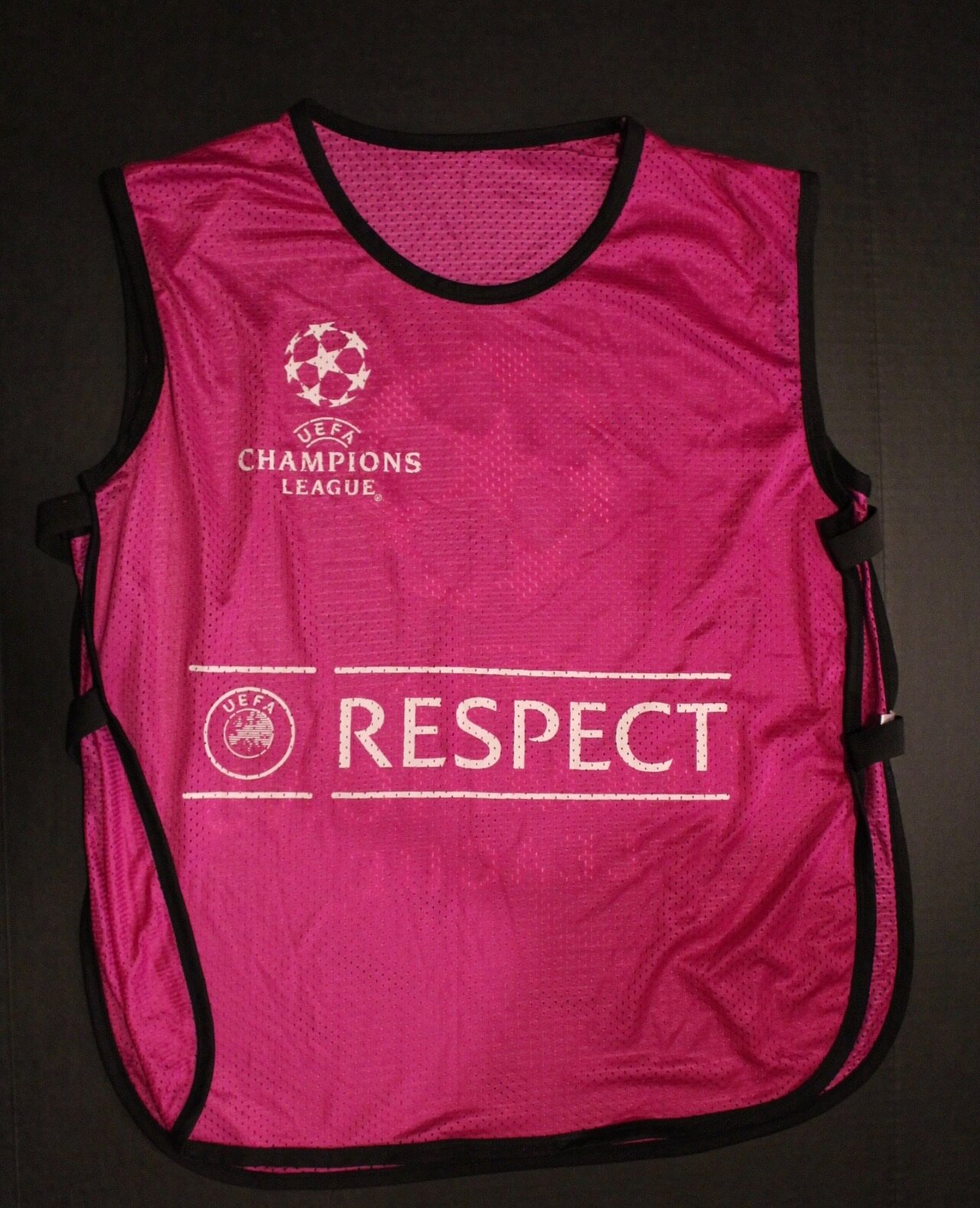 7f4c6f31880 FC Barcelona Game-Used UEFA Champions League Training Substitutes Bib.  2014 15 Season.