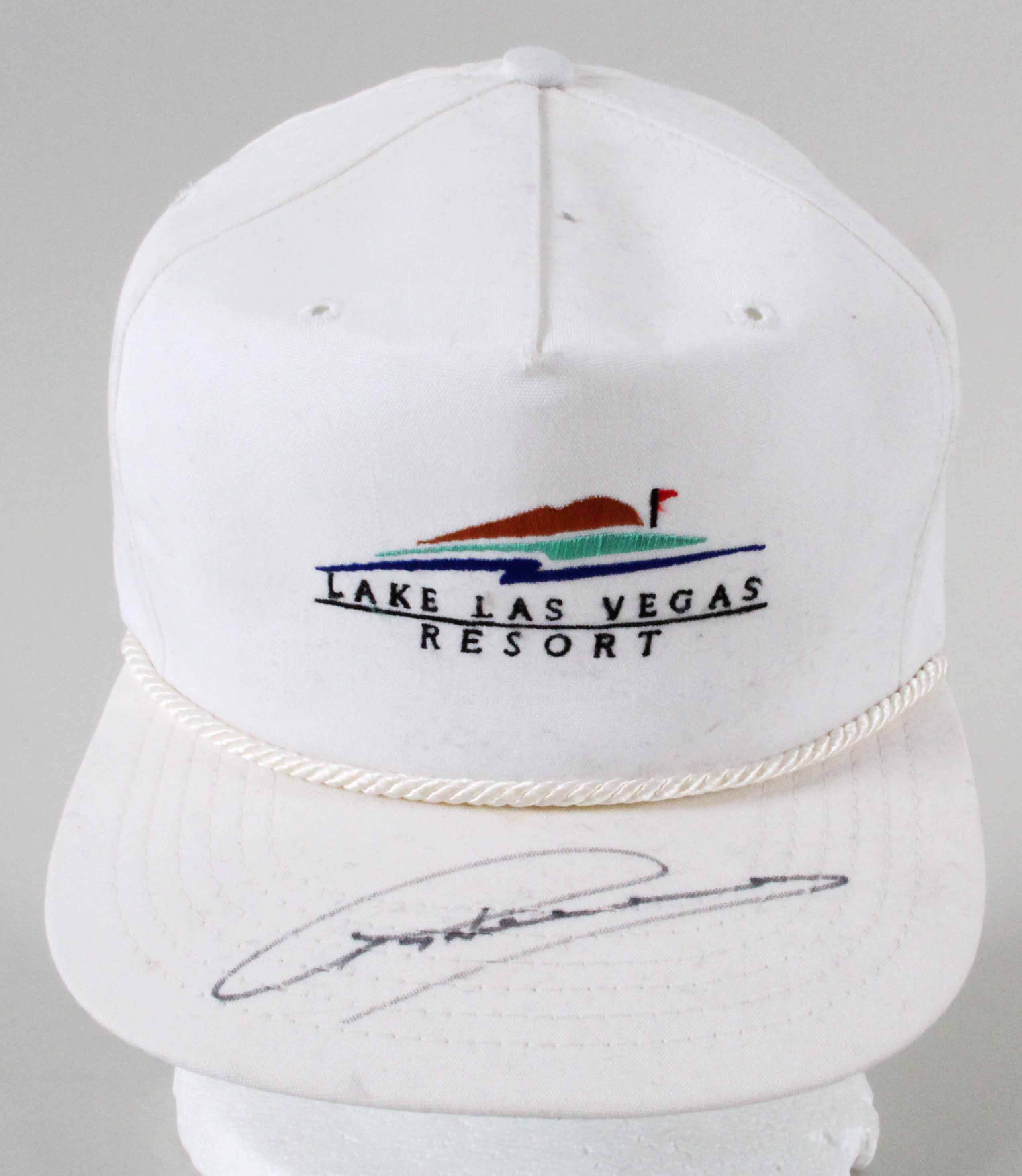 e7beab37f Greg Norman Signed Used Golf Hat - JSA Basic Cert & Sticker