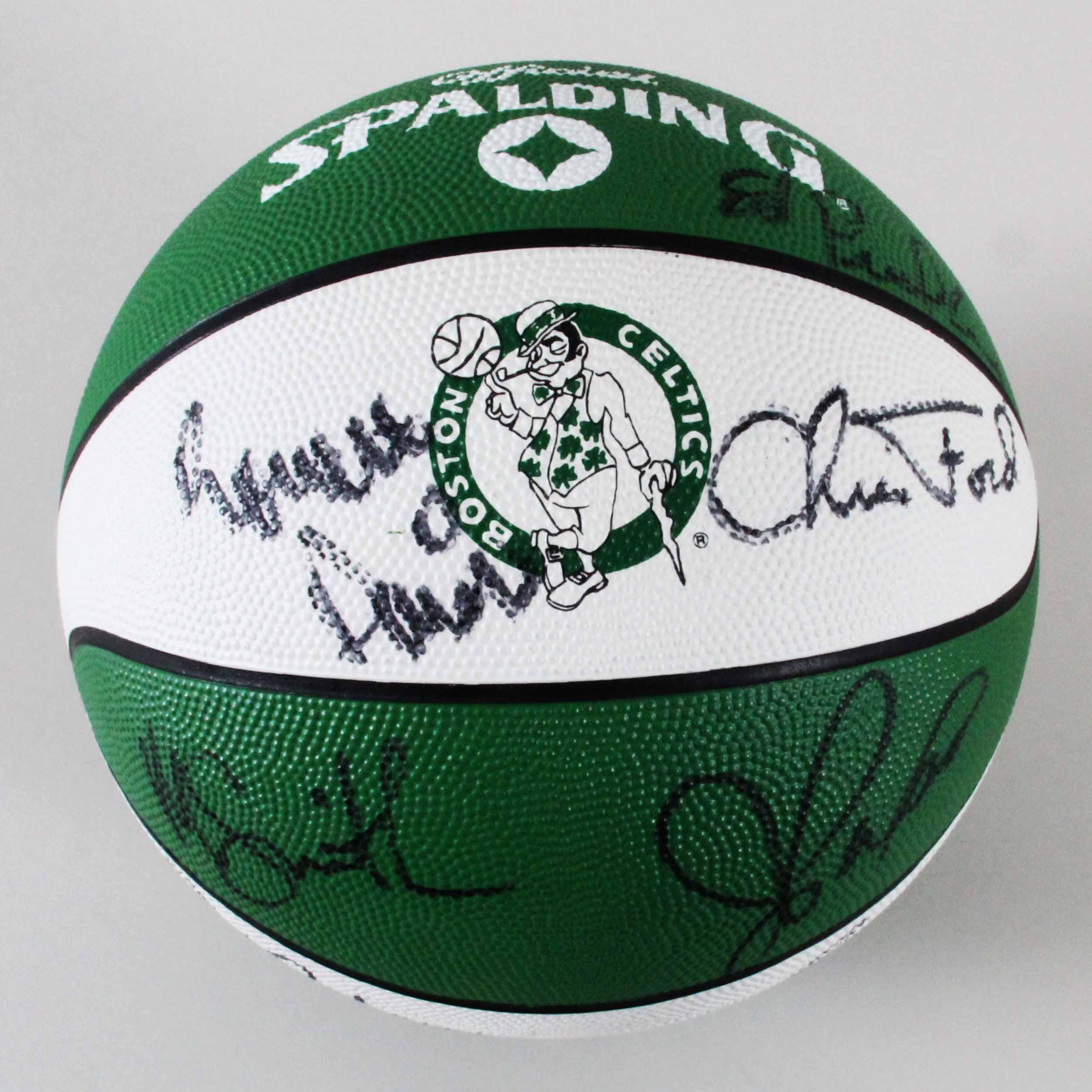 04a4a58ea 1989-90 Celtics Team-Signed Basketball Larry Bird
