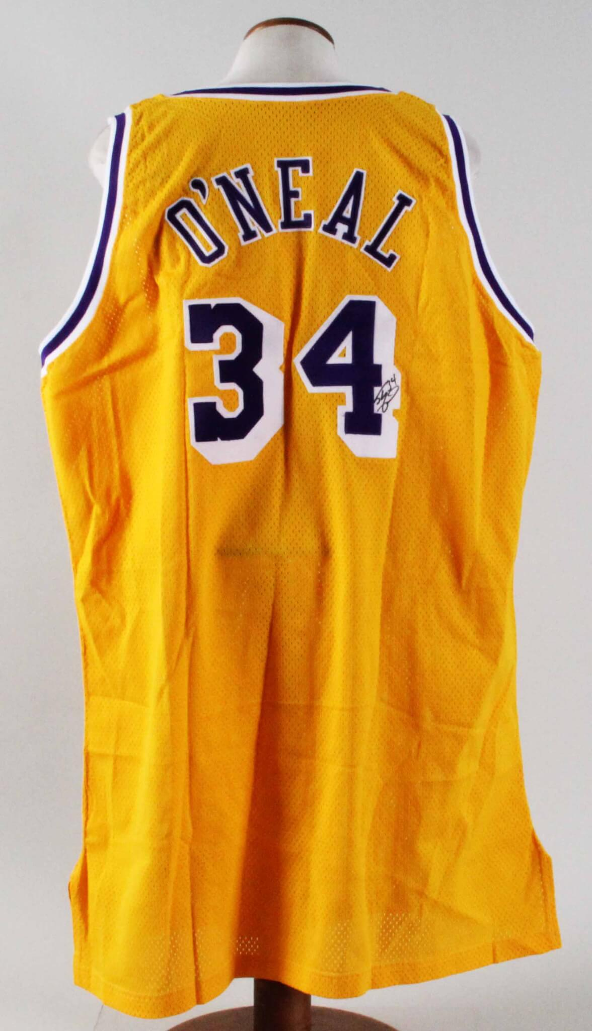 new product 4a275 5a4f4 1996-97 Shaquille O'Neal Game-Issued Jersey Signed Lakers
