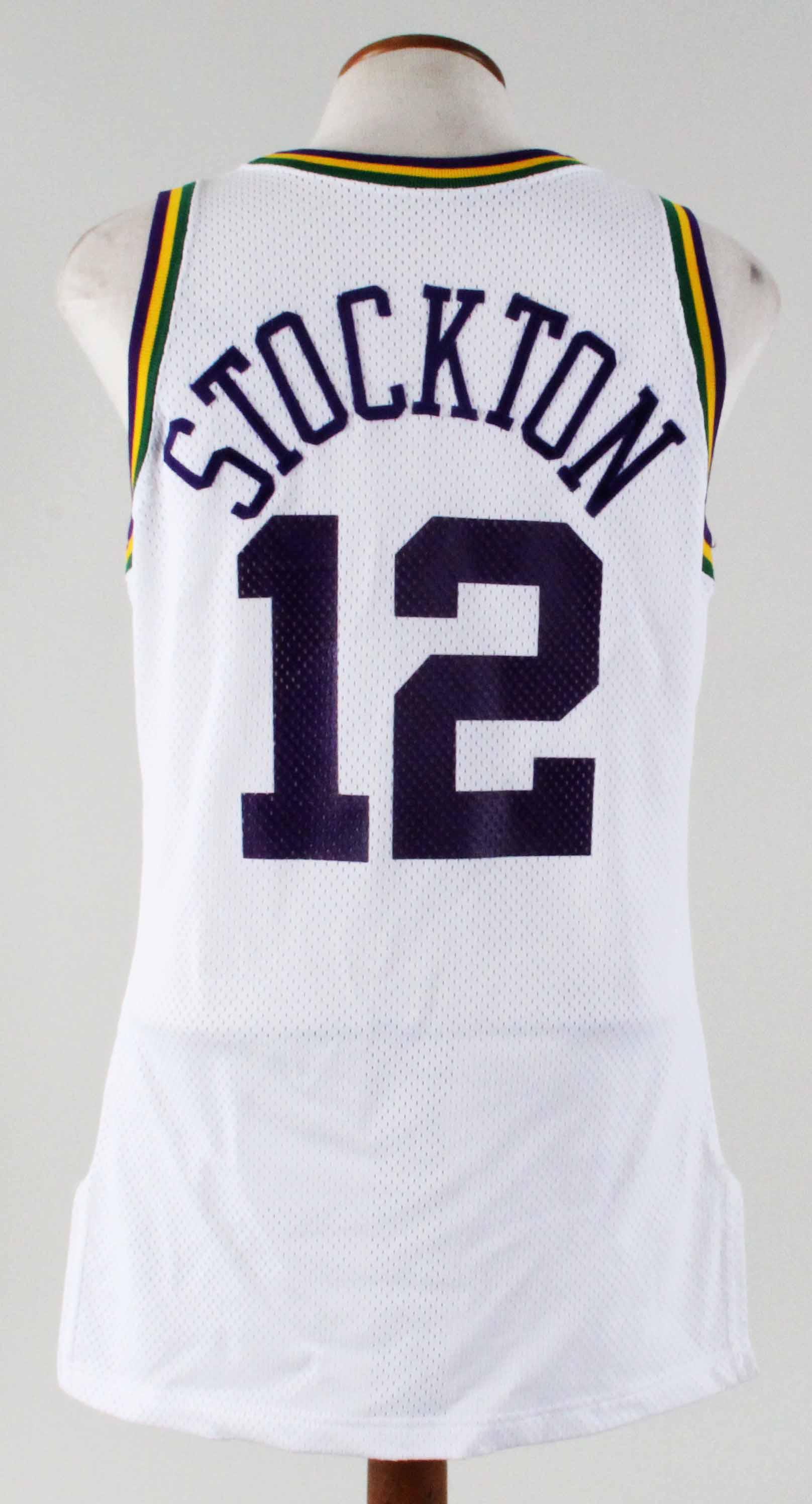 competitive price 8e452 661e5 1994-95 John Stockton Game-Worn Jersey Jazz - COA 100% Authentic Team
