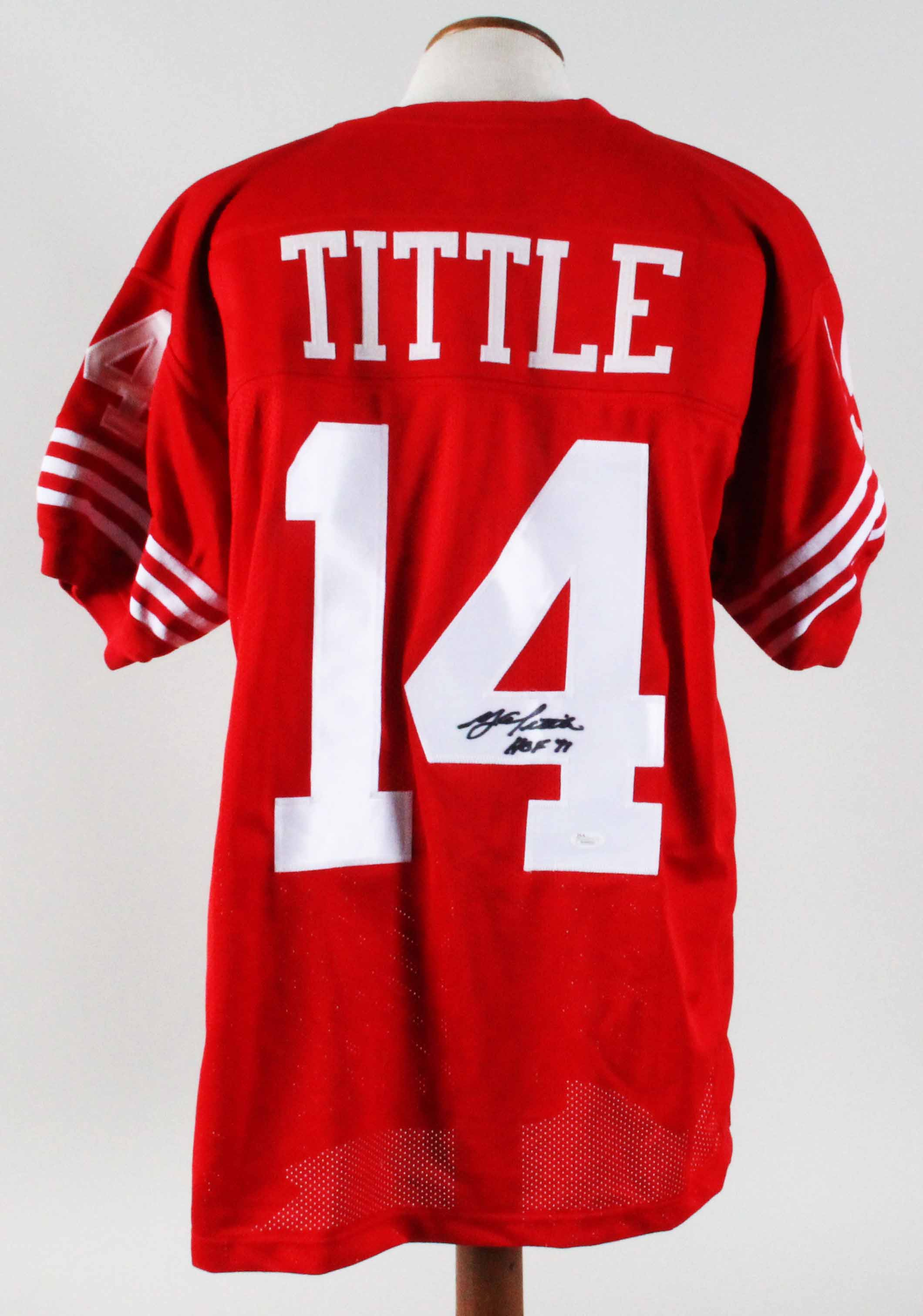 new product 61643 7fb19 Y.A. Tittle Signed Jersey 49ers - COA JSA