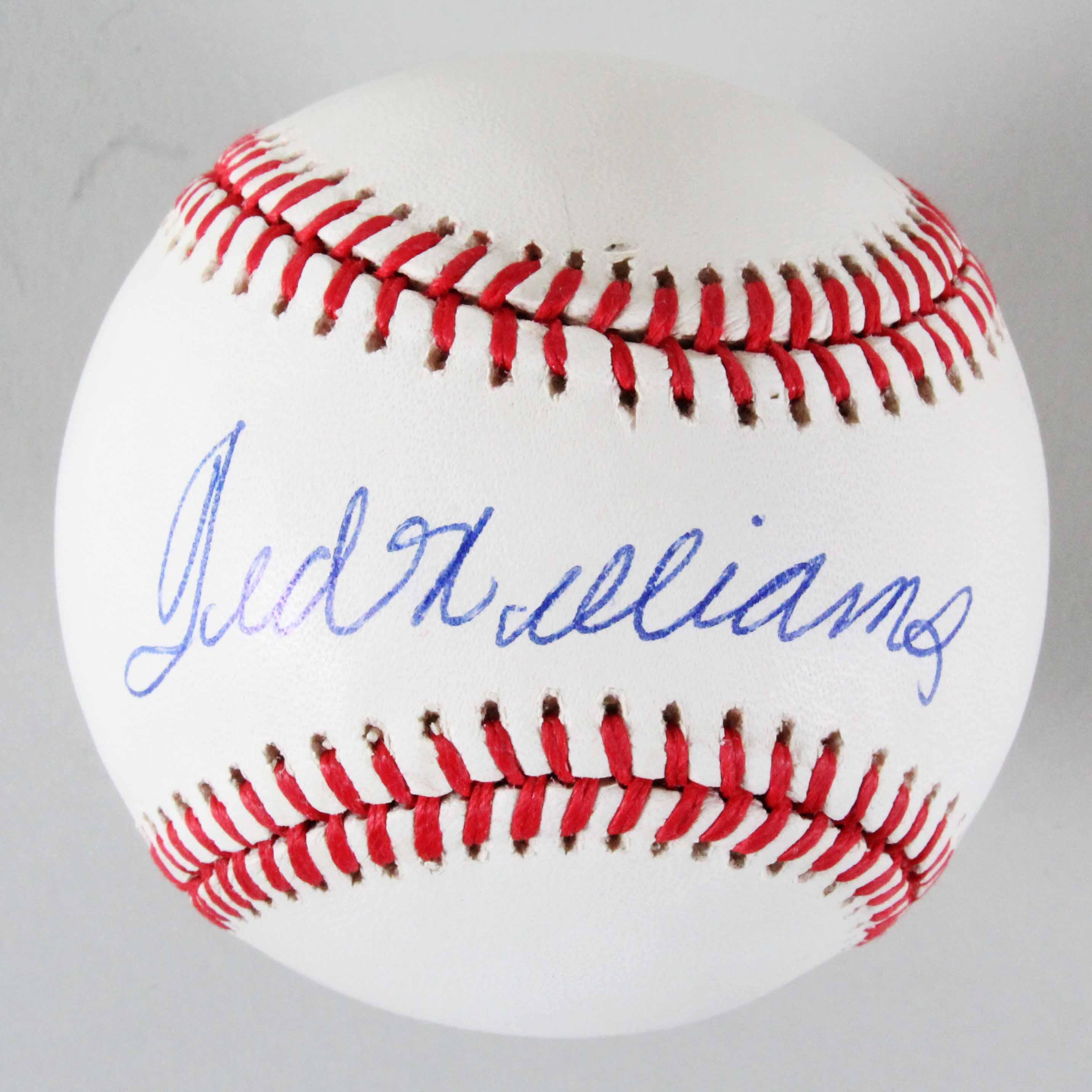 b7edbc2a4d7 Ted Williams Signed Baseball Red Sox – COA JSA
