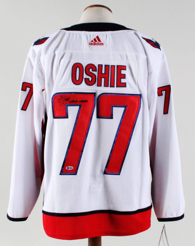best loved f9477 82c71 T.J. Oshie Signed Jersey Capitals - COA Beckett