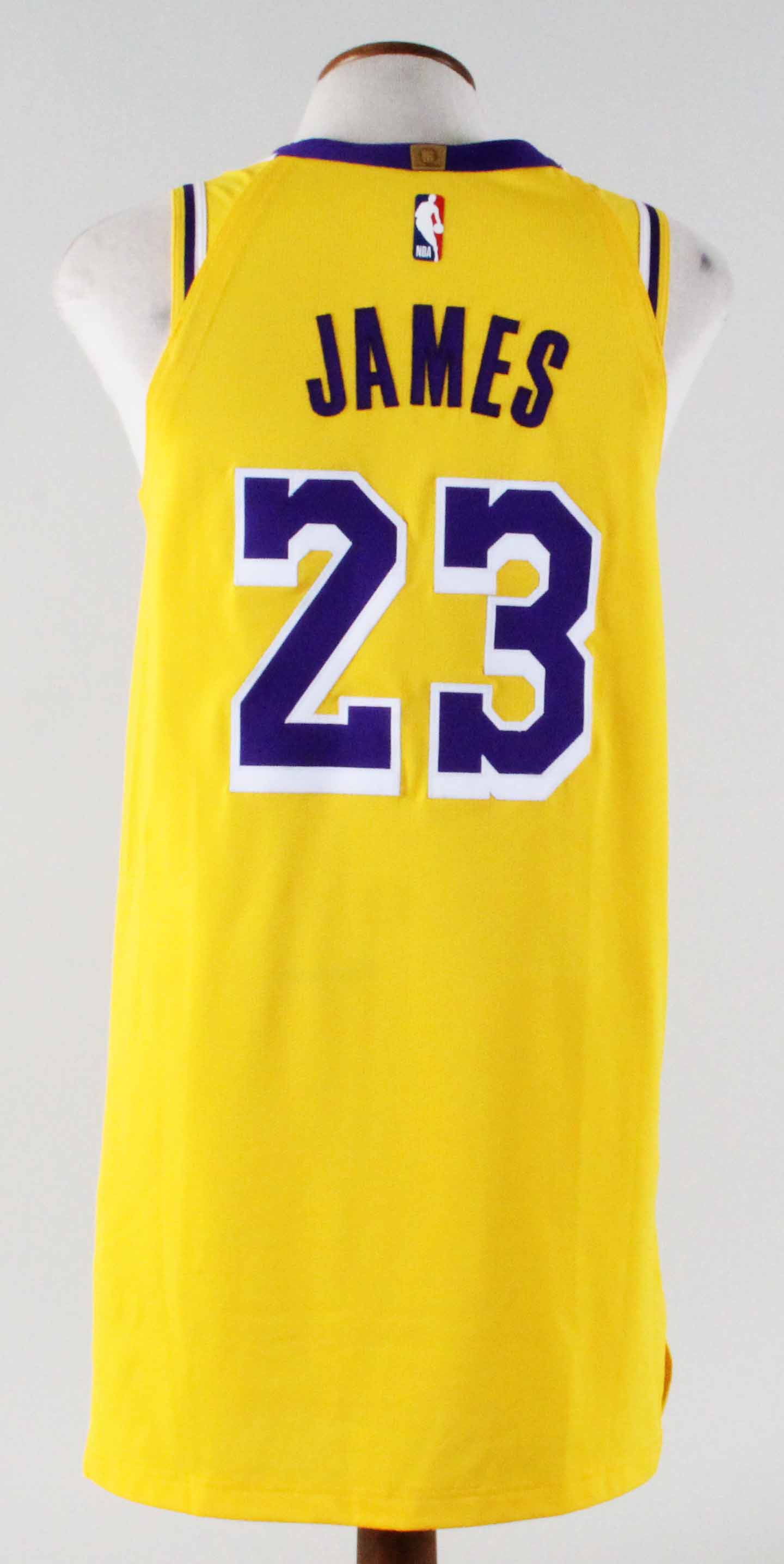 brand new 5527f 41c9d 2018-19 LeBron James Game-Worn Jersey Lakers -UTA ...