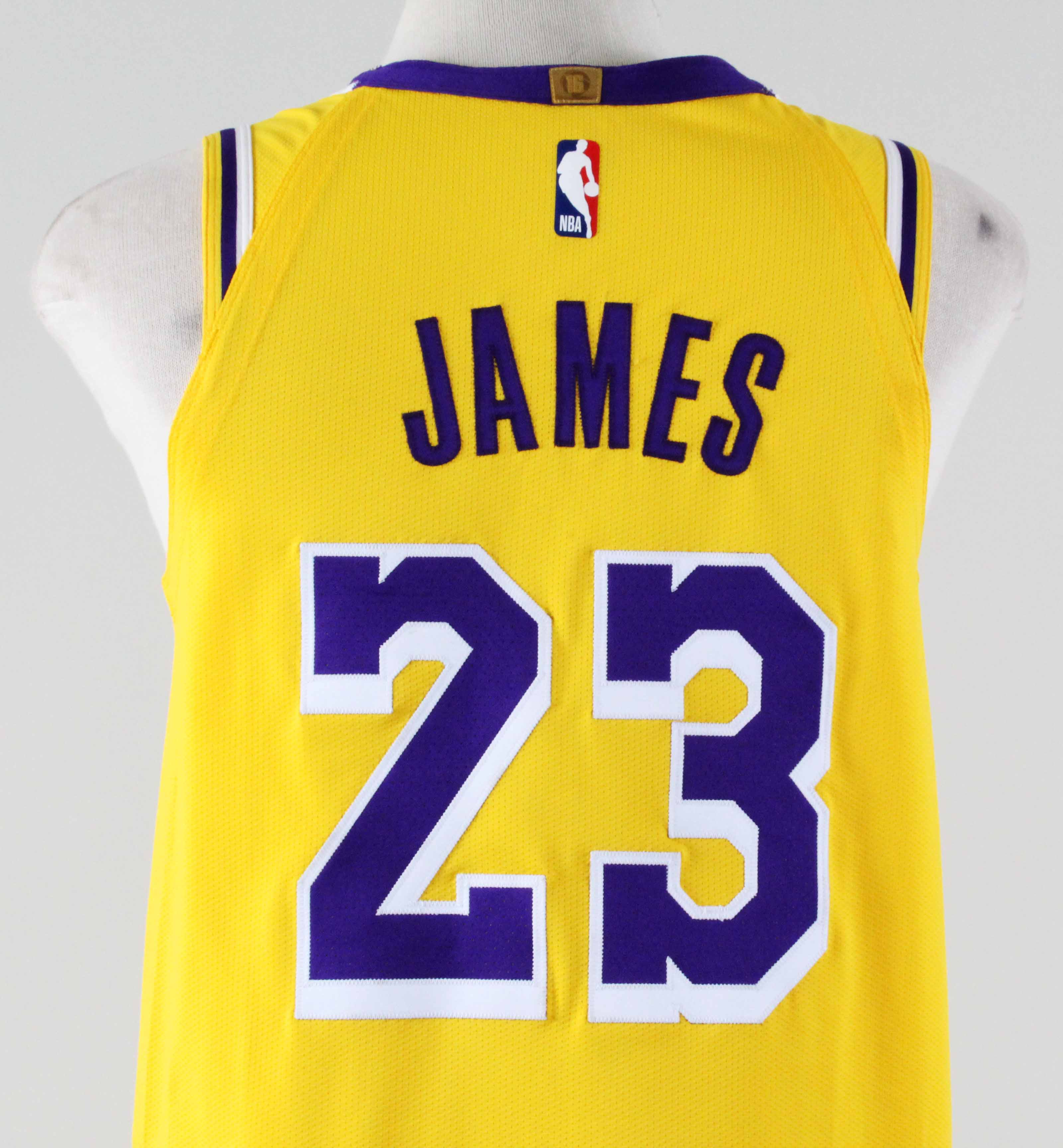 brand new bd1db 2cd7d 2018-19 LeBron James Game-Worn Jersey Lakers -UTA ...