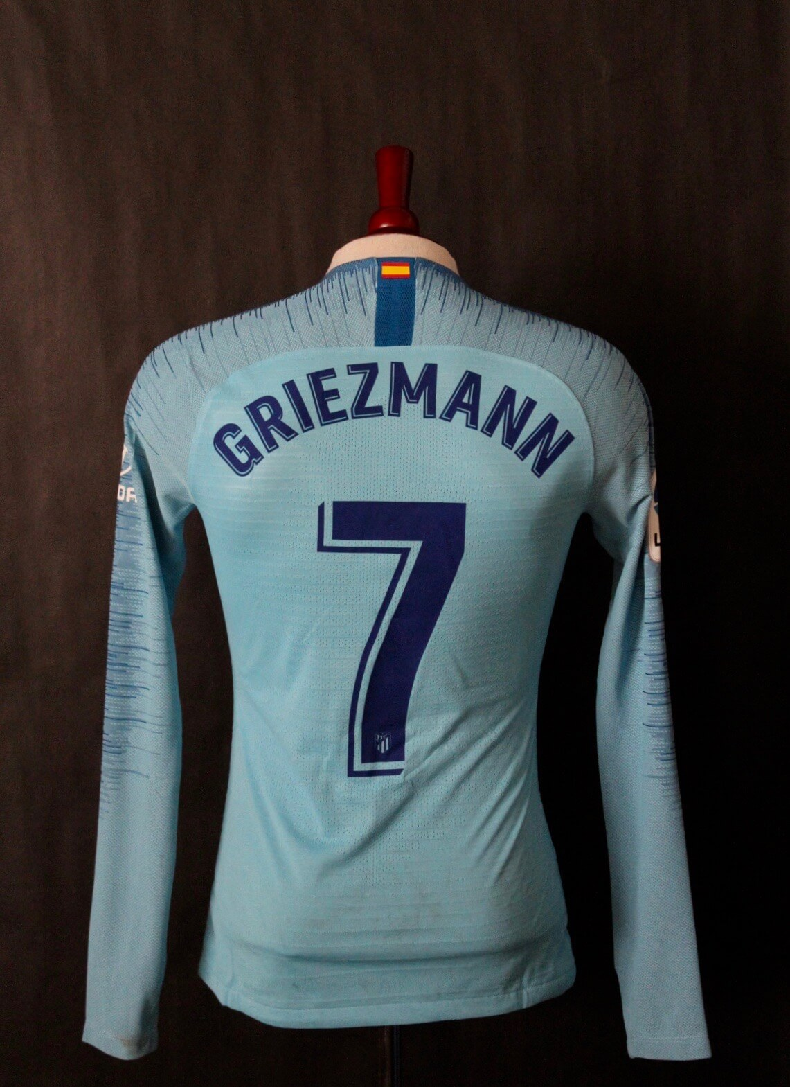 901b97db131 Antoine Griezmann Game-Worn  7 Atletico Madrid Away Shirt. 2018 2019  Spanish La Liga.