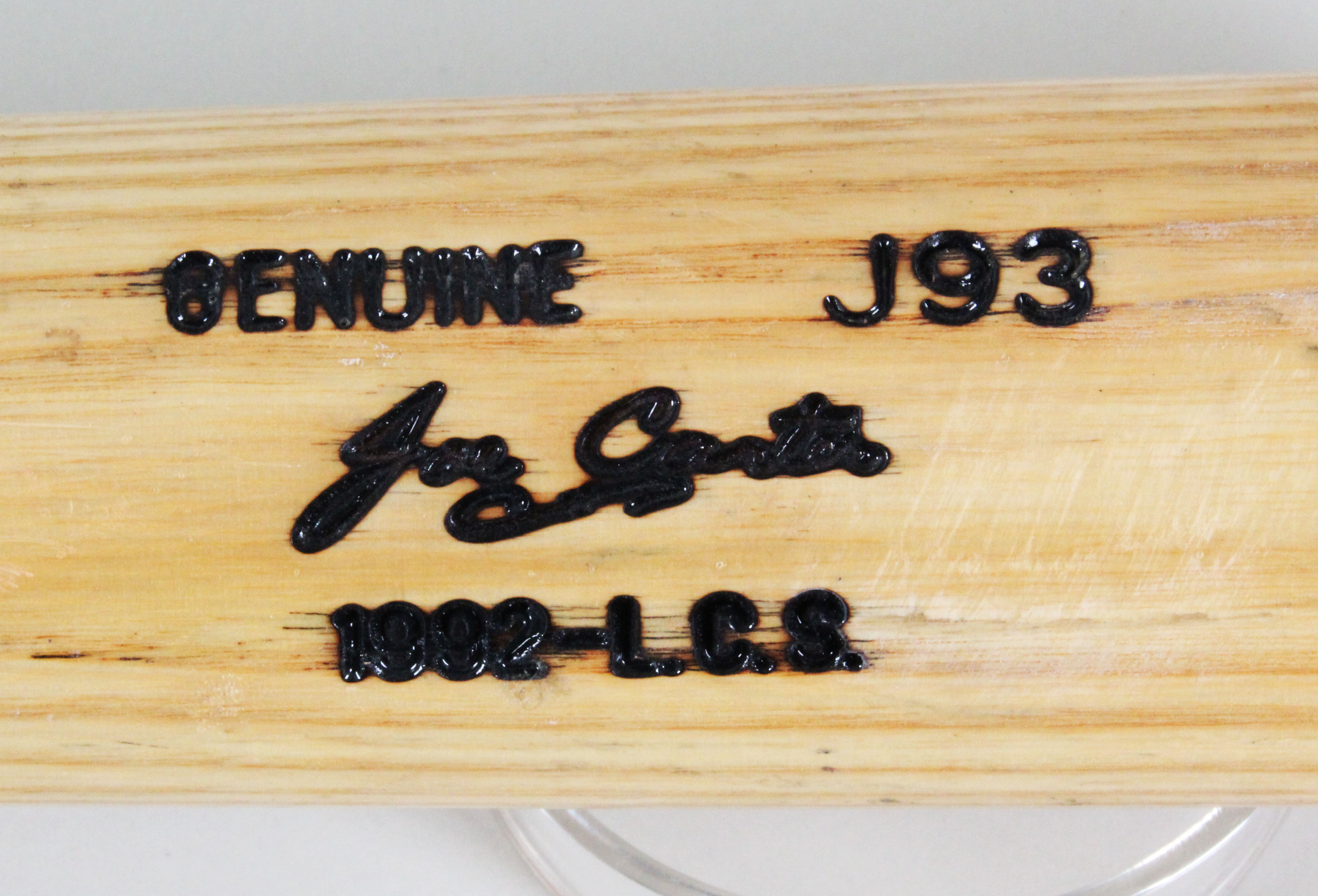 6056dc8bbb1 Joe Carter Game-Used Bat Blue Jays 1992 ALCS – COA PSA DNA ...