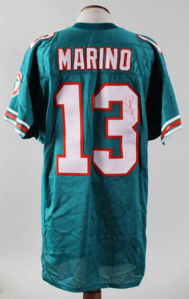 buy online 77972 d4451 1995 Dan Marino Game-Worn Jersey Signed Dolphins - Grey Flannel -COA JSA
