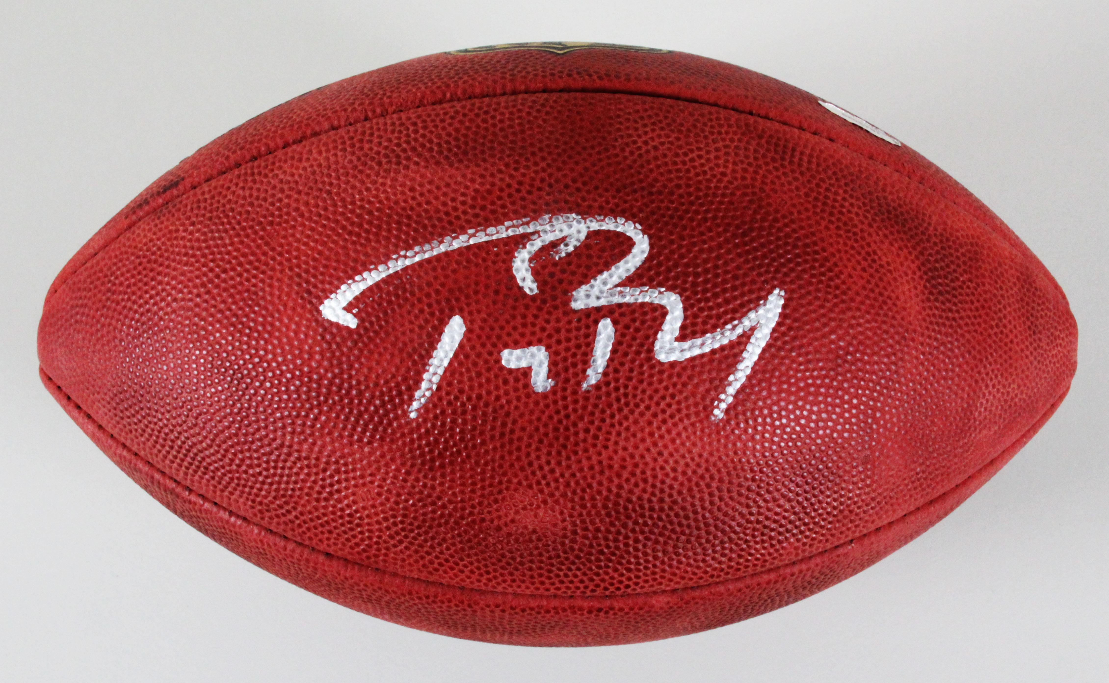 huge selection of 7d7d6 678c5 Tom Brady Signed Football Patriots - COA TriStar