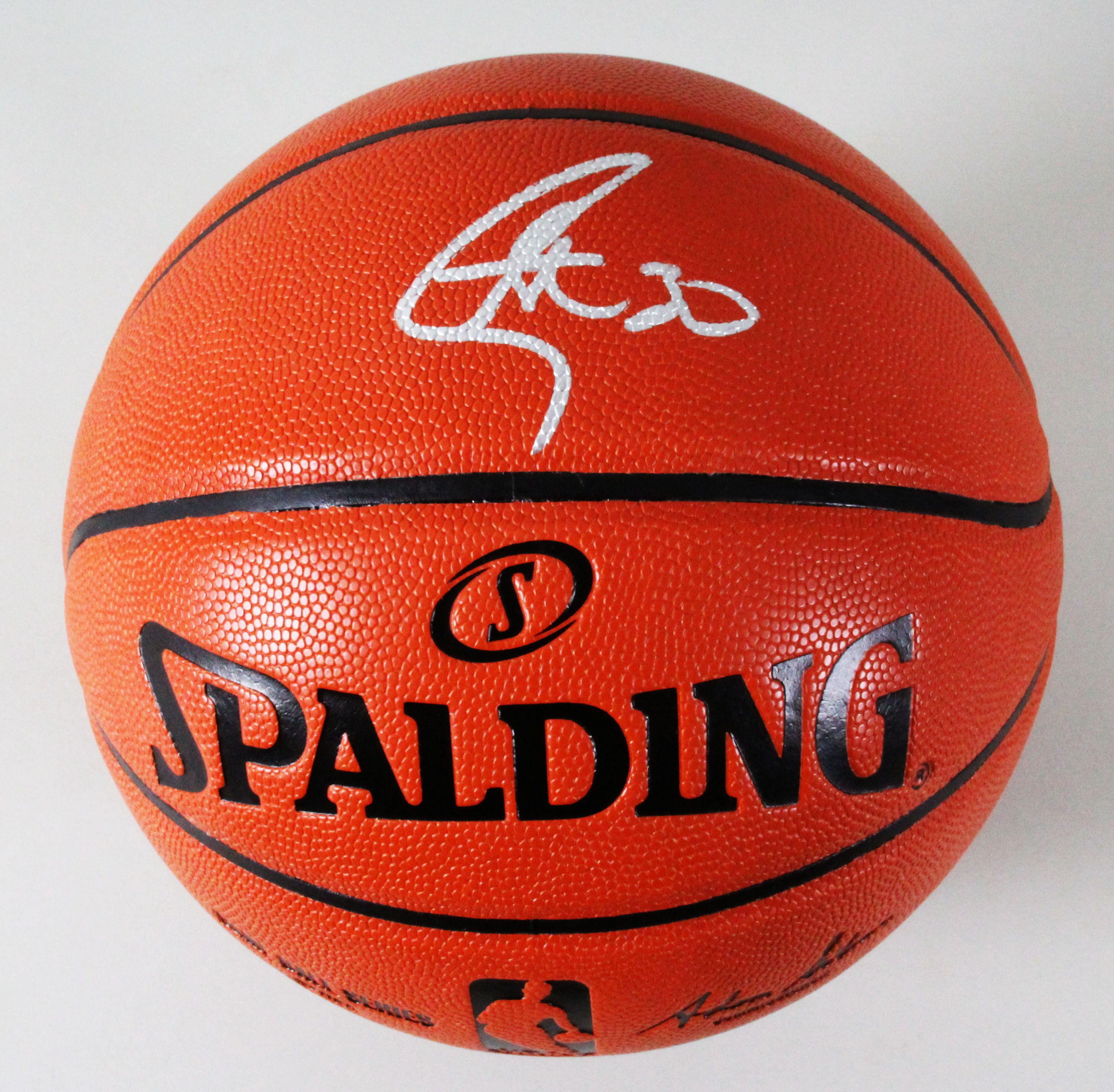hot sale online 549c5 a3eec Stephen Curry Signed Basketball Warriors - COA Fanatics