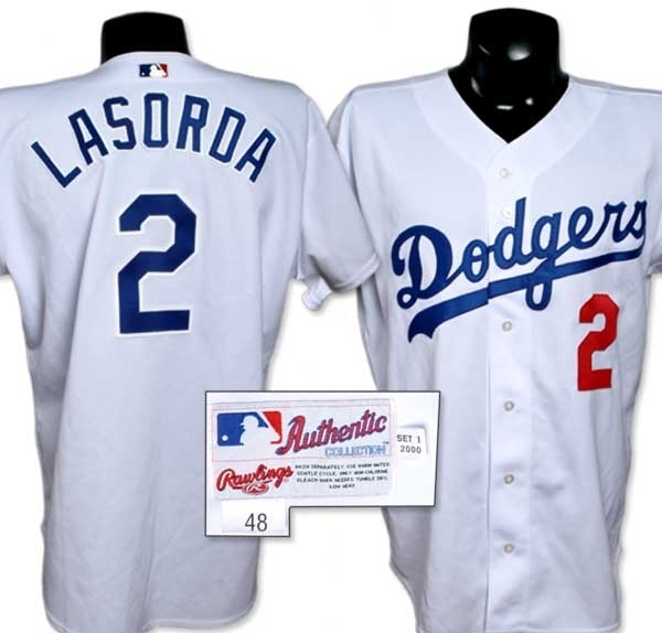 promo code 71c1d c495d 2000 Tommy Lasorda Game Worn Jersey.