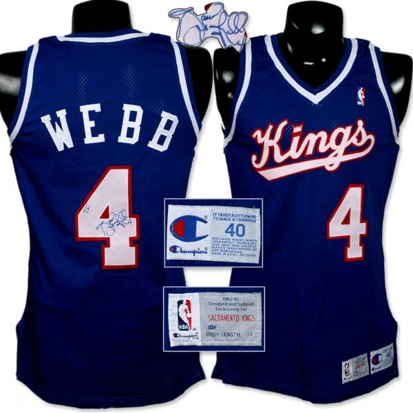 2fa0a4e3d 1992-1993 Spud Webb Game Worn Jersey.