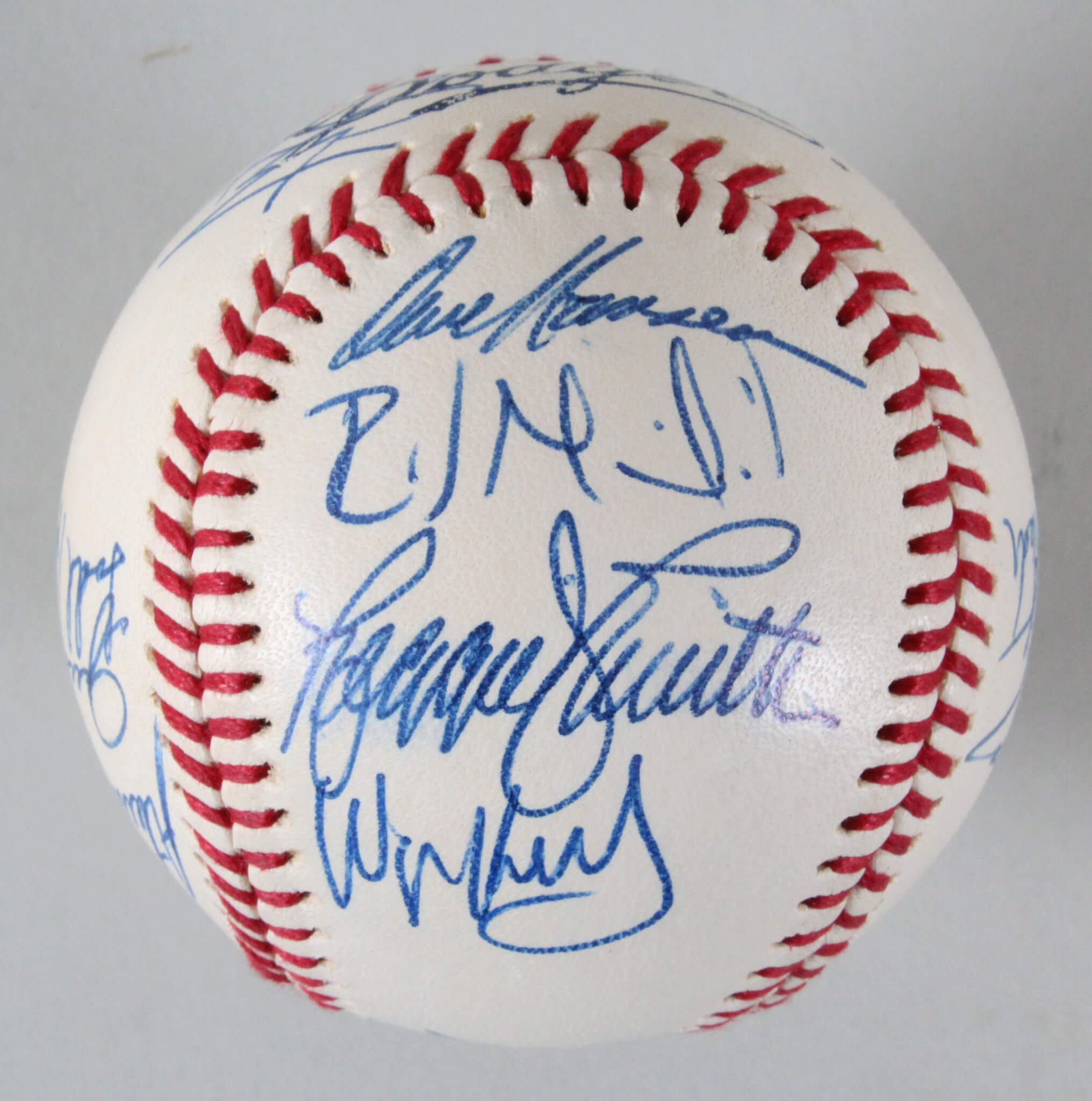 618160b5c 1996 Dodgers Team-Signed Baseball Mike Piazza