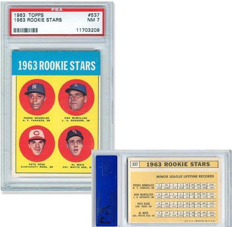Pete Rose Rookie Card Psa Graded
