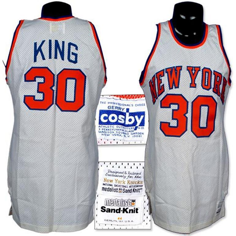 official photos 9b430 46091 1982 Bernard King Game Worn Jersey Comes With Letter.