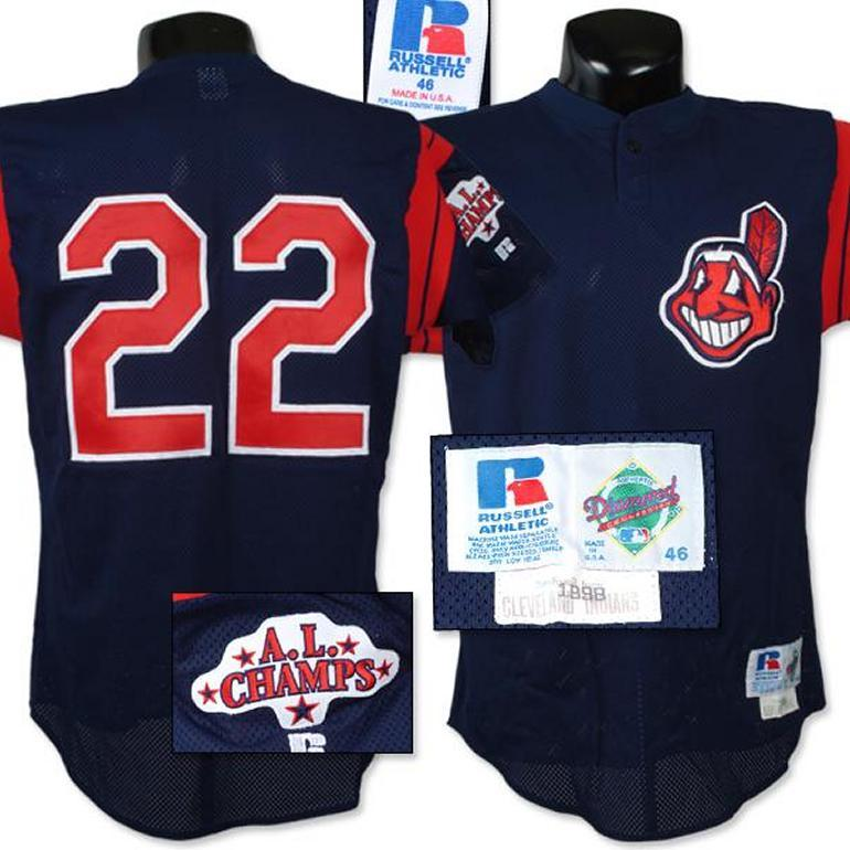 competitive price 86c25 801ad 1998 Brian Giles Indians Game Worn Batting Practice Jersey.