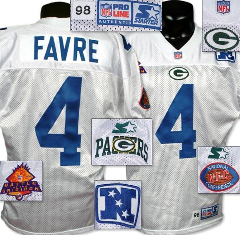 premium selection 5132f fb7aa 1998 Brett Favre Pro Bowl Game Worn Jersey.