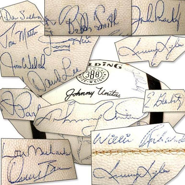 Vintage 1967 Baltimore Colts Team Signed Football