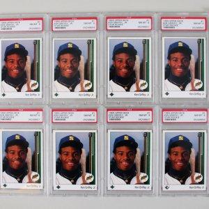 db3f7c2462 1989 Upper Deck Ken Griffey Jr. Graded RC Cards & Fleer Lot (11) – PSA